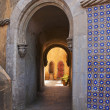Stock Photo: Arch of the entrance in the courtyard