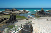 Natural beach port of Almograve — Foto de Stock