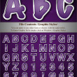 Purple Alphabet with Silver Emboss Stroke — Wektor stockowy #6502377