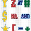 Set Tackle Twill Alphabet - Stock Vector