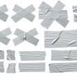 Silver Masking Tape - Stock Photo