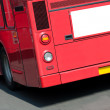 London Bus With Copy Space - Stock Photo