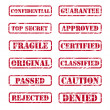 Rubber stamps - Stock Vector