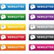 Stock Vector: Newsletter buttons