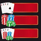 Casino banners — Stock Vector