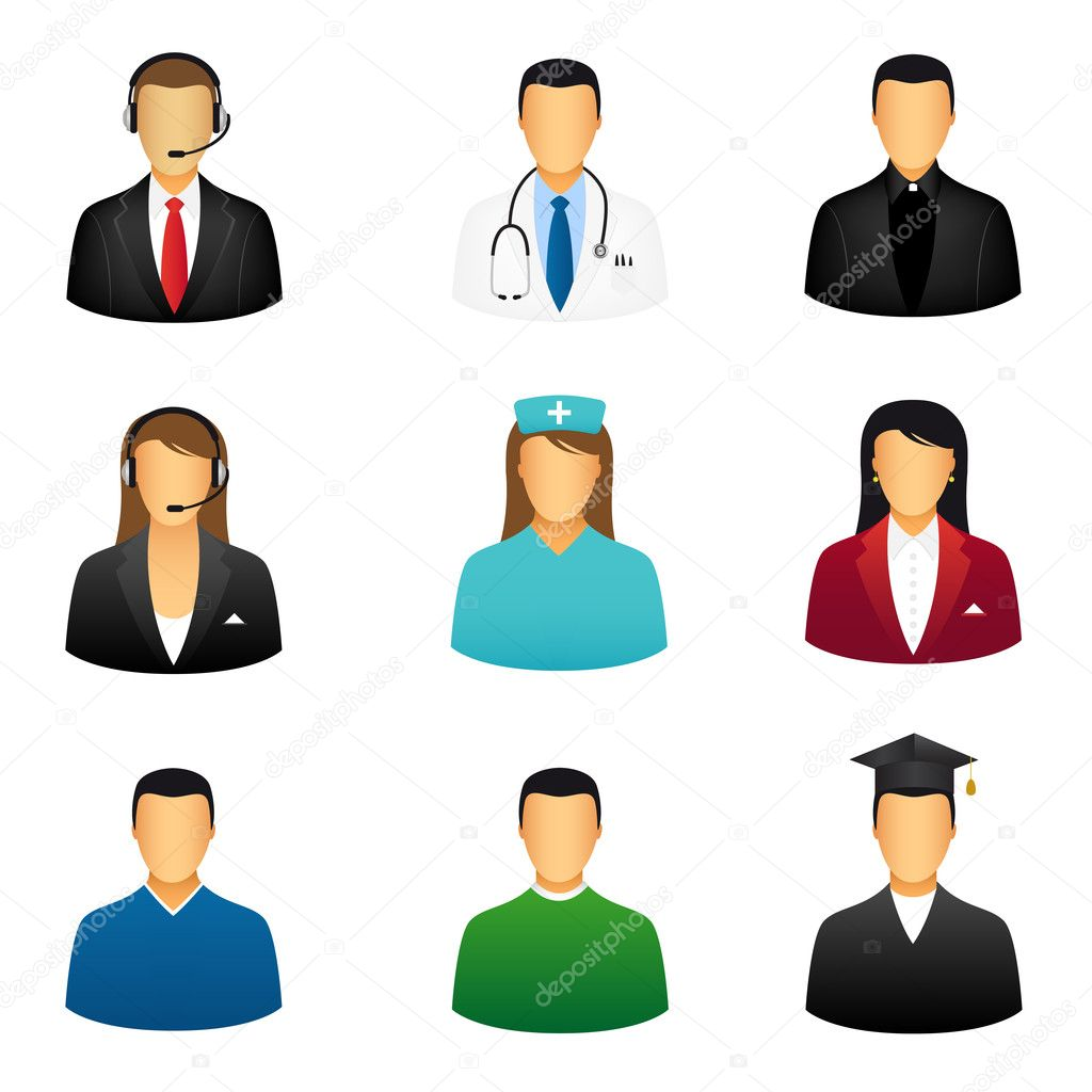 Set of people icons — Stock Vector #6032947