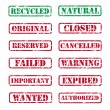 Collection of rubber stamps - Stock Vector