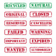 Collection of rubber stamps — Stock Vector