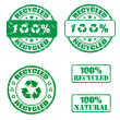 Recycled stamp — Stock Vector
