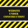 Stock Vector: Website under construction