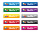 Community buttons — Stock Vector