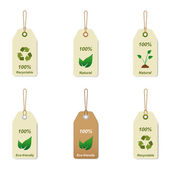 Recyclable and natural tags — Stock Vector
