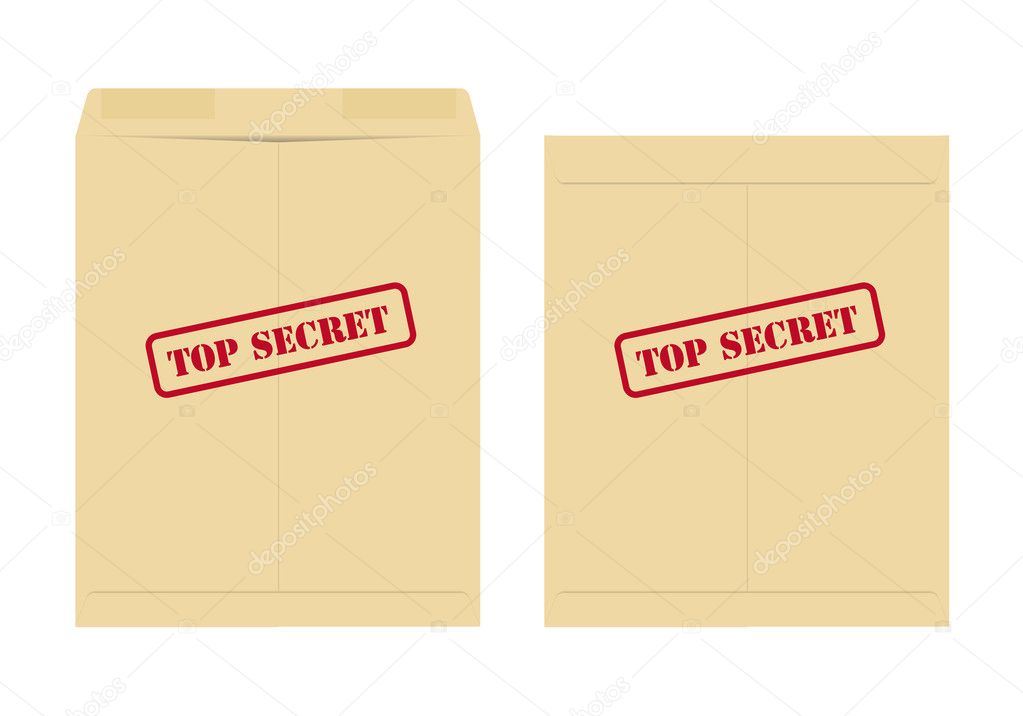 Top secret envelope, one open and one closed  Stock Vector #6045676