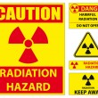 Radiation hazard signs - Stock Vector