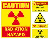 Radiation hazard signs — Stock Vector