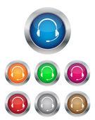 Call center buttons — Stock Vector