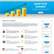 Business website template - Vettoriali Stock 