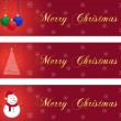Three christmas banners — Stok Vektör
