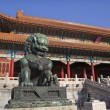 Dragon Bronze Statue Tai he Men Gate Gugong Forbidden City Palac — Stock Photo #6039714
