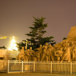Stock Photo: Mao Statue in front of Tomb Tiananmen Square Beijing ChinNight