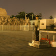 Stock Photo: Mao Tse Tung Statue Tiananmen Square Beijing ChinNight Policem