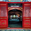 图库照片: Interior Cow Street Niu Jie Mosque Beijing China