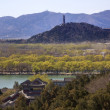 Stock Photo: Yu Feng PagodFrom Lonevity Hill Summer Palace Willows Beijing
