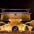 Zhengyang Gate with Streetlight Tiananmen Square Beijing China N - Stock Photo