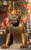 Dragon Bronze Statue Gugong Forbidden City Palace Beijing China — Stock Photo