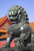 Dragon Bronze Statue Gugong Forbidden City Palace Beijing China — Stock Photo