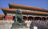 Dragon Bronze Statue Tai he Men Gate Gugong Forbidden City Palac — Stock Photo
