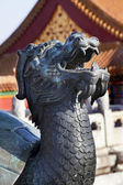 Dragon Tortise Bronze Statue Gugong Forbidden City Palace Beijin — Stock Photo