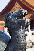 Dragon Tortise Bronze Statue Gugong Forbidden City Palace Beijin — Stock Photo