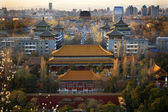 Jinshang Park Looking North at Drum Tower Beijing China Overview — Stock Photo