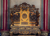 Emperor's Throne Gugong Forbidden City Palace Beijing China — Stock Photo