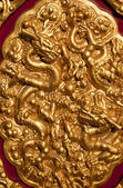 Golden Dragons Decoration Gugong Forbidden City Palace Beijing C — Stock Photo