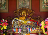 Laughing Buddha Details Yonghe Gong Buddhist Temple Beijing Chin — Stock Photo