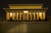 Tomb of Mao Tse Tung Tiananmen Square Beijing China Night — Stock Photo