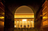 Mao Tomb from Qianmen Gate Tiananmen Square Beijing China Night — Stock Photo
