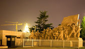 Mao Statue in front of Tomb Tiananmen Square Beijing China Night — Stock Photo