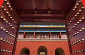 Red Gates Doors Gugong Forbidden City Palace Beijing China — Stock Photo