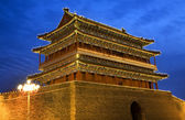 Qianmen gate zhengyang män himmelska fridens torg beijing kina natten — Stockfoto
