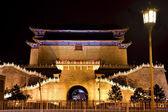 Puerta de Zhengyang con farola tiananmen square beijing china n — Foto de Stock