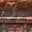 Royalty-Free Stock Photo: Ancient Buddha Bricks Details Iron Buddhist Pagoda Kaifeng China