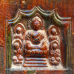 Ancient Buddha Bricks Details Iron Buddhist Pagoda Kaifeng China — Stock Photo