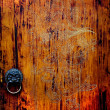 Stock Photo: Old Carved Wooden Door Jinli Street SichuChina