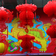Chinese Lunar New Year Decorations Beijing, China — Stock Photo