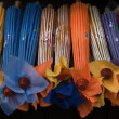 Stock Photo: Colorful Paper Handcrafted Umbrellas China