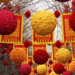 Chinese Lunar New Year Decorations Beijing China — Stock Photo