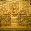 Chinese Golden Emperor's Throne with Dragons Reproduction — Stock Photo